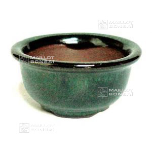 C2 round dark green mini pot