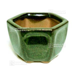 H3 hexagonal mini pot green