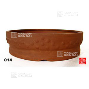 Round riveted bonsai pot 10cm