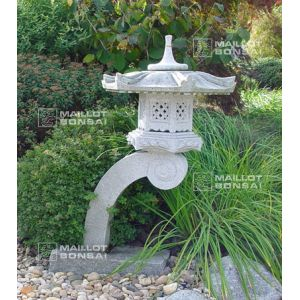 Lanterne Granite Type Rankei 130 Cm Maillot Bonsai