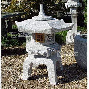 Lanterne Granite Yukimi Gata 185 Cm Fen Tre Bois Maillot